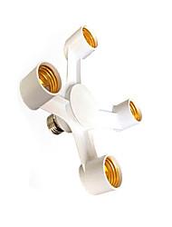 zweihnder 4 en 1 E27 à E27 lampe LED prise ampoules support d'adaptateur de séparateur pour le studio de photo