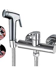 Grifo de ducha / Bidet grifo - Contemporáneo - Alcachofa incluida - Latón ( Cromo )