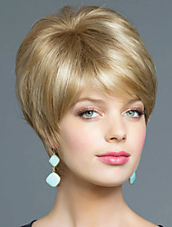 Sassy Cool Hand Tied -Top Virgin Remy Human Hair Attractive Short Straight Woman's Wig