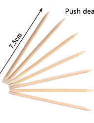 10pcs Push Dead Skin Remover Nail Art  Wood Stick for Nail Cuticle Pusher Remover for Manicures