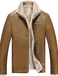 Qiu dong men business leather coat Add wool upset head skin sheep skin head skin to keep warm fur clothing