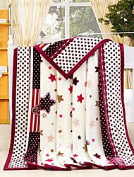 Super doux Multicolore,Imprimé Nouveauté 100 % Polyester couvertures W200*L230cm
