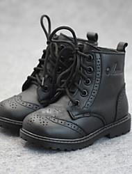 Chaussures bébé - Noir / Jaune - Décontracté - Cuir - Bottes