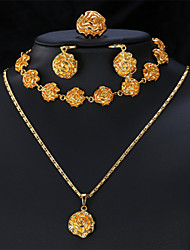 Vogue New Cute Flower Pendant Jewelry Sets for Women Romantic Rose 18K Gold Platinum Plated Jewelry High Quality