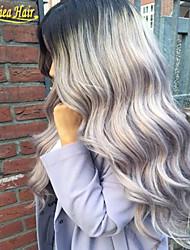 8A Hot Sale Silver Grey Human Hair Wigs Brazilian Full Lace Wigs/Front Lace Wig Human Hair With Baby Hair For Women