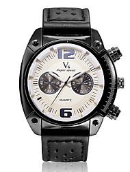 Мужской Наручные часы Кварцевый Кожа Группа Черный Коричневый Хаки марка V6