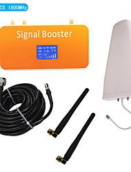nouvelle DCS d'affichage lcd 1800MHz téléphone mobile amplificateur de signal avec fouet et connecter l'antenne périodique couverture kit