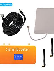 nouvelle DCS d'affichage lcd 1800MHz téléphone mobile amplificateur de signal avec antenne fouet et le panneau de couverture kit 500m²