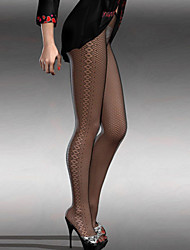 Women's Diamond Sides Detail Stretch Fishnet Tights