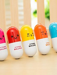 (20 PCS)High Quality Fashion Retractable Ballpoint Pen pills Style Toy (Color Random Delivery)