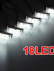 Set Car 18 LED White Strobe Emergency Flashing Grill Light