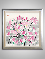 Ink Painting Effect Lotusflower Paper Painting Only Without Anyframe