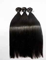 3pcs/lot 18inch Human Remy Hair Silk Straight Hair Weft Peruvian Virgin Hair Extensions 100% Human Hair Weaves