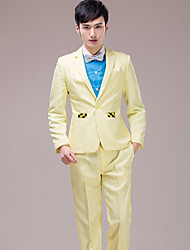 Men's Suits for Performances    Preided Over    Wedding     Party Important Occasions   Yellow Suit Set    4490