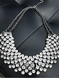 European Style Fashion Metal Shining Rhinestone Necklace