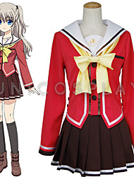 New Anime Charlotte Nao Tomori Red School Uniform Cosplay Costume