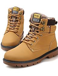 Sapatos Masculinos Botas Preto / Marrom / Amarelo Courino Ar-Livre / Escritório & Trabalho / Casual / Para Esporte / Festas & Noite