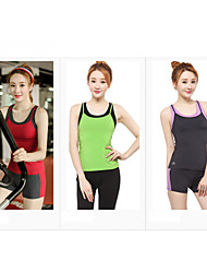 Running Bottoms / Clothing Sets/Suits / Shorts / Tank Women's Sleeveless Breathable / Quick Dry / Lightweight Materials / Compression