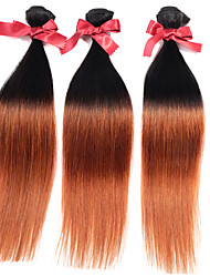 Malaysia Ombre Virgin Straight Hair Weaves Two Tone T1B/30 Silky Straight Human Hair Weavings 1pcs Hair Wefts 50g/pcs