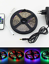 5m 300x3528 RVB SMD LED Light Strip et le contrôleur de rf 10key et 3a UE us uk au alimentation (AC110-240V)