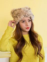 Women Cute Rabbit Fur  Hats LD00083