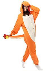 kigurumi Pyjamas Dragon Collant/Combinaison Fête / Célébration Pyjamas Animale Halloween Orange Mosaïque Polaire Kigurumi Pour Unisexe
