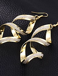 Earring Drop Earrings Jewelry Women Brass 2pcs Silver
