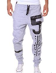 Pantalon de Sport Pour des hommes A Motifs Décontracté / Sport Polyester Noir / Blanc / Gris