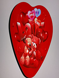 Valentine's Day Heart Shaped Boxes Teddy Bear Design Candy Trinket Gift