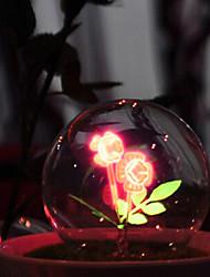 9.5 * 9.5 * 16 centímetros 3W de vidro do Natal bacia petardo romântico uma luz da noite levou luz