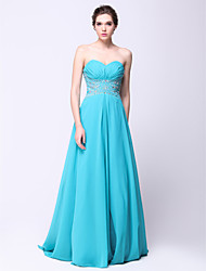 Formal Evening Dress - Jade A-line Sweetheart Sweep/Brush Train Chiffon