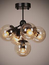 Ecolight™ Chandeliers 5 Lights/Glass Ball Lights/ Retro Living Room / Hallway / Outdoors / Garage Metal
