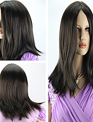 Women's Fashionable Long Straight Dark Brown Bob Hair Wigs
