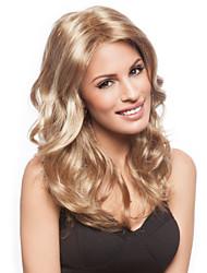 capless longue des femmes élégantes naturel sain fille d'onde de cheveux perruques blondes