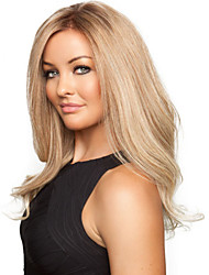 Fashionable Sweet Gloden Medium Length Curly Synthetic Hair Wig