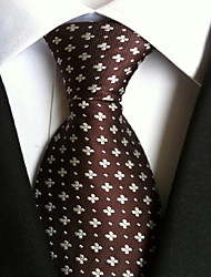 Men Wedding Cocktail Necktie At Work Coffee Flower Tie