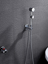 Bathroom/Toilet Portable Chrome Shattaf Bidet Sprayer Women Cleaner, With Thermostatic Faucet Valve And 150 cm Hose