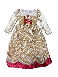 Vestido Chica deUn Color-Satén-Invierno / Otoño-Beige