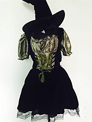 The New Adult Halloween Witch Costume Bent Cap Witch COS Costume For Cosplay Play Take Make-Up Dancing Party