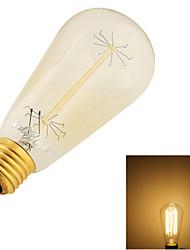1 pièce YouOKLight E26/E27 40W 9 Tungsten Filament SMD 400 LM Blanc Chaud B edison Vintage Ampoules Globe LED AC 100-240 V