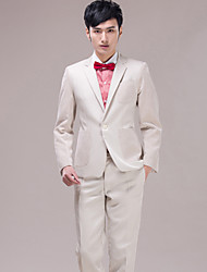 Men's Suits for Performances Presided Pver   Wedding   Party  Important   Occasions    Ivory Suit  Set 4490