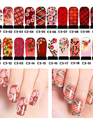 5pcs Nail stickers Flower and Butterfly Water Transfer Stickers  Random Color