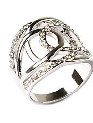 Simple Luxury Fashion Lovers Diamond Ring