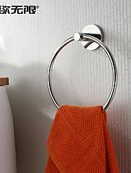 """Towel Ring Stainless Steel Wall Mounted 150x 150 x 50mm (5.9 x 5.9 x 1.96"""") Stainless Steel Contemporary"""