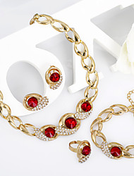 WesternRain Crystal Jewelry Set Wholesale Gold Plated Jewelry Set With Crystal Necklace For Bridal Bridal Wedding Party