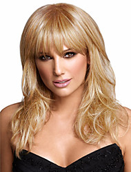 Silky Straight Wave Blonde Synthetic Medium  Wave Wigs  New Arrival