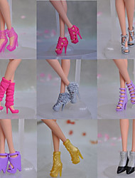 9 Pcs Barbie Doll Elegant Girl PVC Shoes For Summer