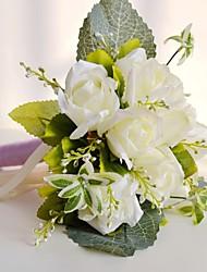 Romantic Ivory 9 Heads Wedding Flowers Rose Bouquet