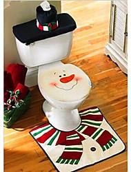 noël toilettes décoration housse de siège de toilette bonhomme de neige Santa