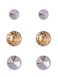 Stud Earrings Rhinestone Silver Plated Gold Plated Fashion Blue Champagne Jewelry Party Daily Casual 1set
